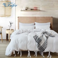 Cool Twin/Queen/King White Bedroom Comforter Bedding Sets Bed Quilt Sheets Set Bedclothes Duvet Cover Bedspread Pillowcase US SizeAT_93_12