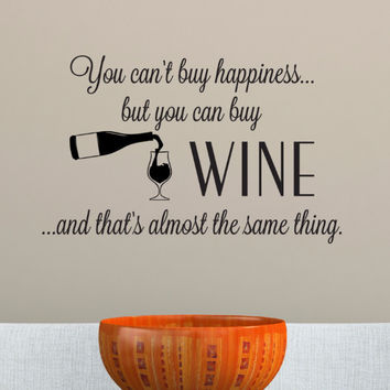 Wine Happiness Wall Decal