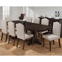 Grand Terrace 9 Piece Dining Table & Upholstered Chair Set