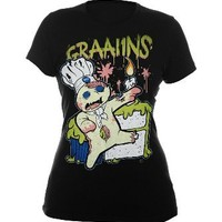 Goodie Two Sleeves Zombie Doh Grains Girls T-Shirt