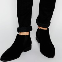 ASOS | ASOS Chelsea Boots in Black Faux Suede at ASOS