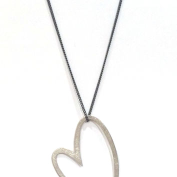 "Silver ""Loop"" Necklace from Horst Max Lebert"