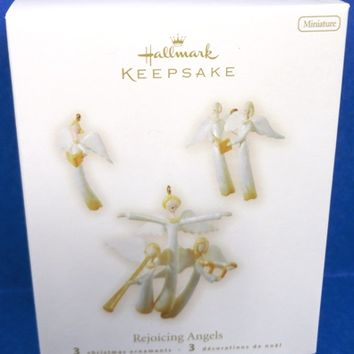 2008 Rejoicing Angels set of 3 Miniature Hallmark Ornaments