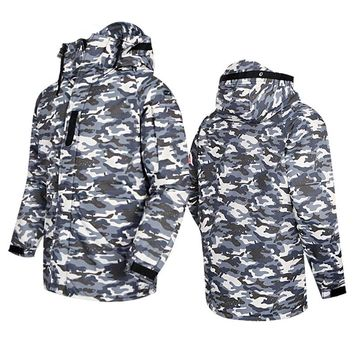 "New Premium ""SouthPlay"" Winter Season Waterproof 10,000mm Warming Ski & Snowboard Gary Camo Military Jackets"
