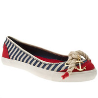 Women's White & Navy Rocket Dog Rdog Tulip Island Stripes at Schuh