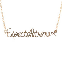 Harry Potter Expecto Patronum Necklace