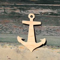 Unfinished Wooden Anchor - DIY Anchor - Nursery Decor - Home Decor - Nautical Decor - Beach House - Wedding - Wood Decor
