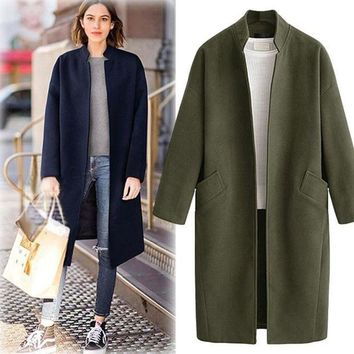 DCKL9 Plus Size Women's Fashion Long Sleeve Cotton Coat Jacket [191193415706]