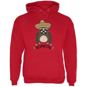 DCCKJY1 Despacito Means Slowly Funny Sloth Pun Mens Hoodie