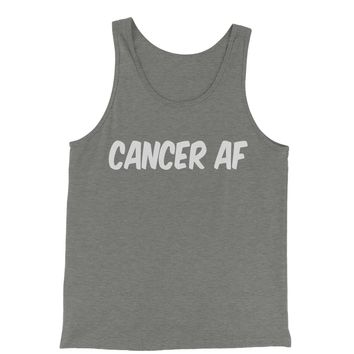 Cancer AF As F-ck Zodiac Jersey Tank Top for Men