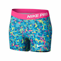 Nike Girls Nike Pro 3 AOP Printed Short-Shorts-Clothing-Girl's-WOMEN'S - Sport Chalet