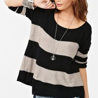 Slouchy Stripe Knit in Clothes Tops Sweaters at Nasty Gal