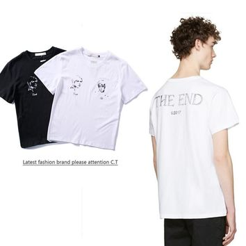 Cheap Women's and men's OFF-WHITE t shirt for sale 85902898_0196