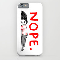 Nope iPhone & iPod Case by Gemma Correll