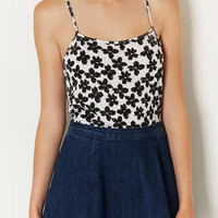Floral Long Line Cami Top - Jersey Tops  - Clothing
