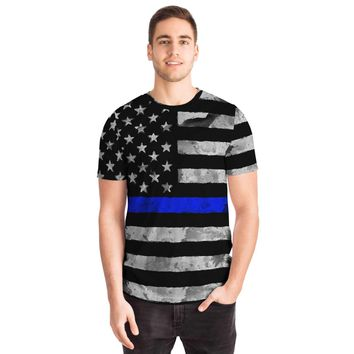 Support Our Police Blue Line Flag Unisex T-shirt