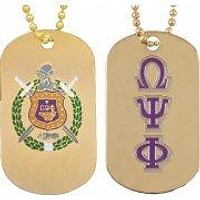 Omega Psi Phi Gold Dog Tags