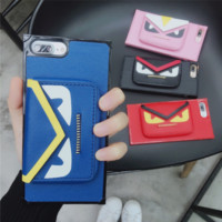 FENDI print phone shell phone case for Iphone X