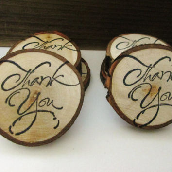 Thank You Favors, Wedding Favors, Rustic Favors, Holiday Wood Favors, Thank You Tags, Baby Shower Favors, Bridal Shower Favors,