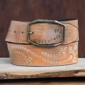 Bed|Stu Tan Rustic Mohawk Belt