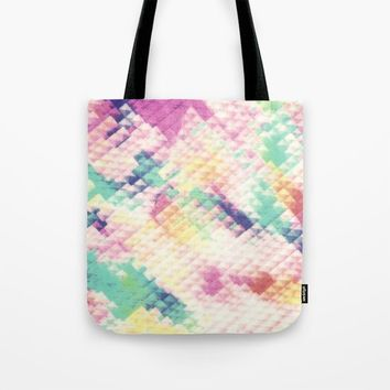 PIXEL PASTEL Tote Bag by CALLEFRANCIA