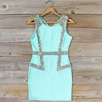 Sunset Stars Dress in Mint