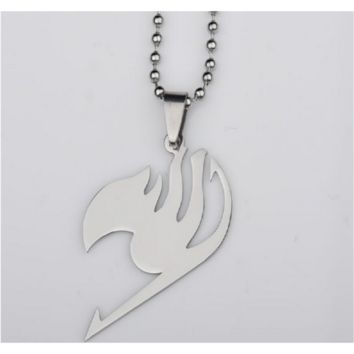 Metal Dragneel Tattoo Cool Silver Fairy Tail Pendant Necklace