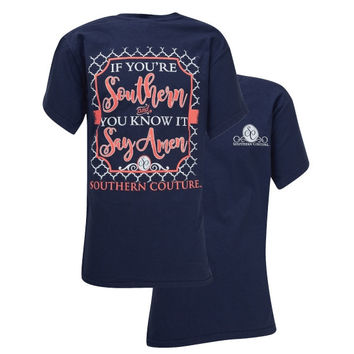 Southern Couture Preppy Southern & You Know it Comfort Colors T-Shirt