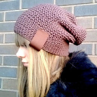 Hand Knit Hat/ Knitted Hat/ Knitted Beanie/ Teen Beanie/ Women Beanie/ Hand Knit Beanie/ Slouchy Hat/ Chucky Beanie