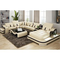 Leisure Style Luxury Sectional Sofa With Coffee Table For Home Furniture