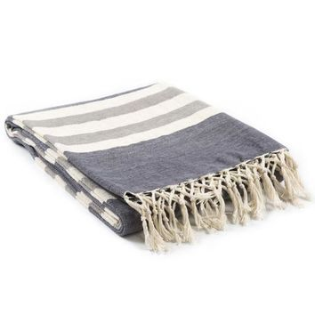 Timothy Knit Throw Blanket - Charcoal