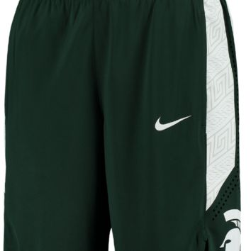 Nike Michigan State Spartans Green On Court Replica Basketball Shorts