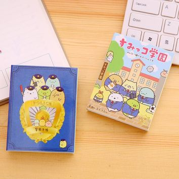 SAN-X  Sumikko Gurashi 4 Folding Memo Pad N Times Sticky Notes Memo Notepad Bookmark Gift Stationery