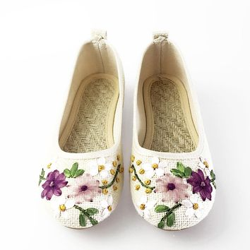 Vintage Embroidered Women's Flat Shoes