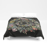 Circle of Life Dark Duvet Cover by anipani