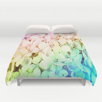 Pastel Rainbow Duvet Cover by WhimsyRomance&Fun
