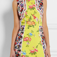 Mary Katrantzou - Amore floral-print silk-blend cloqué mini dress