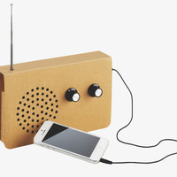 RADIO NATURAL Card Cardboard FM radio and MP3 player - Hipster- HabitatUK