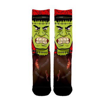 Frankenstein Face Socks