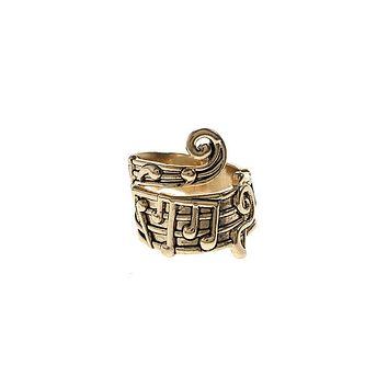 14k Gold Plated Sheet Music Wrap Ring
