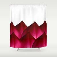 Heart Petals 2 Shower Curtain by UMe Images