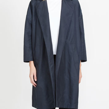 LE3NO Womens Lightweight Oversized Open Front Trench Coat