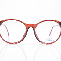 Vintage Eyeglasses , Saphira , Brown , Round glasses , New Old Stock , Sunglass Frames