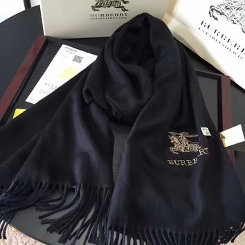 BURBERRY  Women Smooth Cashmere Warm Winter Cape Scarf Scarves