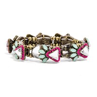 Mirrored Triad Bud Stretch Bracelet