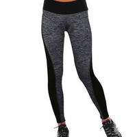 SIMPLE - Fashionable Black Leggings High Waisted Suit Fitness Sportswear Stretch Exercise Yoga Pants b3967