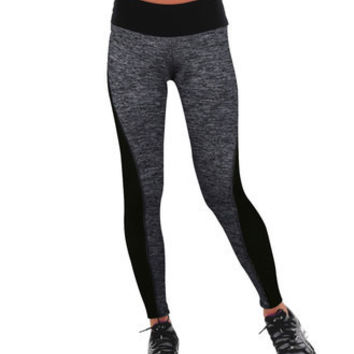 Fashionable Black Leggings High Waisted Suit Fitness Sportswear Stretch Exercise Yoga Pants b3967