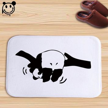 PEIYAUN Cartoon Animal Flamingo Puppy Dog Panda Elephant Flannel Door Mat Factory Custom Made Floor Mat Carpets for Bedroom