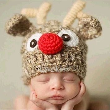 LL Baby Reindeer Winter Hat