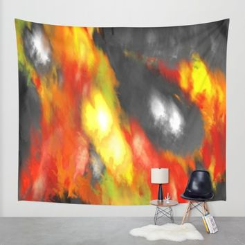 Black Red Yellow Abstract Wall Tapestry by Corbin Henry | Society6